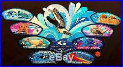 Atlanta Area Council 129 Oa 2017 Jamboree Georgia Aquarium 9-patch Delegate Set