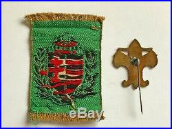 BADGE + 1 patches 1933 Boy Scout World Jamboree BADEN POWELL Attended