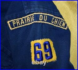 BOY SCOUT c. 1940's CUBS BSA UNIFORM SHIRT & PATCHES POST 1945 FELT BADGES