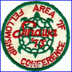 BOY SCOUTS OA Conclave AREA 7F 1949 SINAWA'73' Section BSA PATCH BADGE