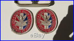 BSA Award Boy Scout STERLING Robbins Type 4 Eagle Medal with Case Patches