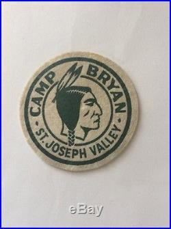 BSA Boy Scout 1940s Camp Bryan Felt Patch