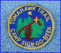 BSA Boy Scouts Camp Shin-Go-Beek Tomahawk Trail Patch +MedalBadgePinMedallion