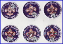 BSA Jamboree position patch lot / scout badge SINCE1910 backing, twill