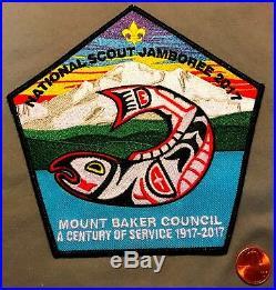 BSA MT MOUNT BAKER COUNCIL 338 2017 SCOUT Jamboree Flap 7-Patch & DELEGATE PIN