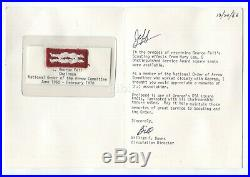 BSA OA DSA scout knot patch -Boys' Life card letter- George Feil National Chair