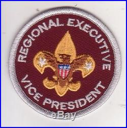 BSA Regional Executive Vice President position patch BSA2010 backing scout badge
