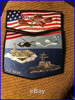 (BSA) Set Of Klahican Lodge 331 Flaps Military Patch Set From NOAC 2018