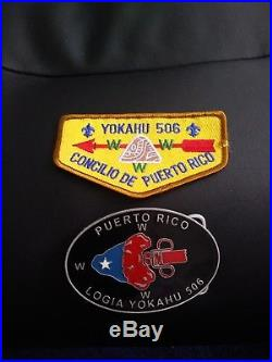 Belt bucle logia yokahu 506 Puerto Rico OA boys scout. And patch