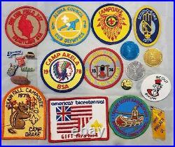 Big Lot 1981 Boy Scout Jamboree Paperwork Memorabilia Patches Nickels Cards Soil