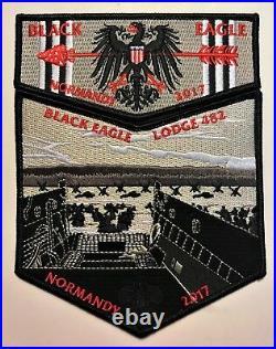 Black Eagle Oa Lodge 482 Bsa Transatlantic 2017 2-patch Wwii Normandy Landing