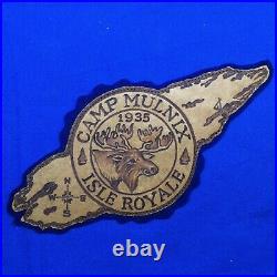 Boy Scout 1935 Camp Mulnix Leather Patch Michigan