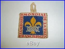 Boy Scout 1947 World Jamboree Staff Patch