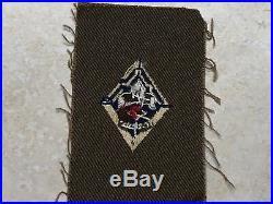 Boy Scout 5 Year Veteran Patch on Square Tan