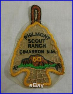 Boy Scout BSA Philmont Scout Ranch Cimarron NM 50th Anniversary Arrowhead Patch