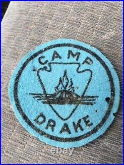 Boy Scout Camp Drake Felt Patch, Alabama, Tennessee Valley Council