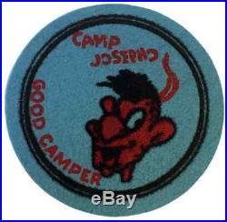 Boy Scout Early Felt Camp Josepho Good Camper Patch Badge BSA Merit Award