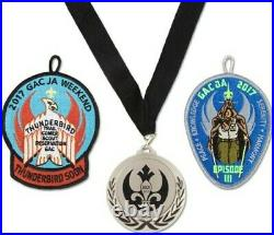 Boy Scout Greater Alabama Council Jedi Academy 2017 Star Wars Patches and Medal