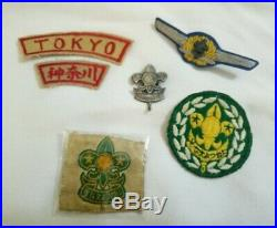 Boy Scout Japan vintage patch badge lot worth a look