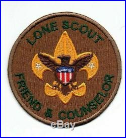 Boy Scout Lone Scout Friend and Counselor Prototype 2 Position Patch