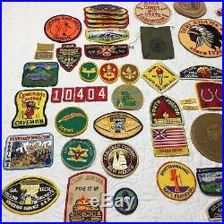 Boy Scout Lot of Patches and Assorted 1980s BSA Memorabilia with Camp Equipment