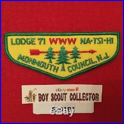 Boy Scout OA Na-Tsi-Hi Lodge 71 F2a 74mm Arrow Order Of The Arrow Flap Patch NJ