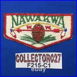 Boy Scout OA Nawakwa Lodge 3 S1 FF First Flap Order Of The Arrow Patch VA