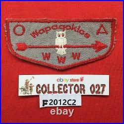 Boy Scout OA Wapaqoklos Lodge 448 F1 FF First Flap Order Of The Arrow Flap Patch