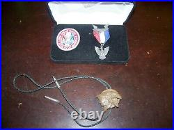 Boy Scout Of America Eagle Scout Medal Be Prepared Ribbon Patch withEagle Bolo Tie