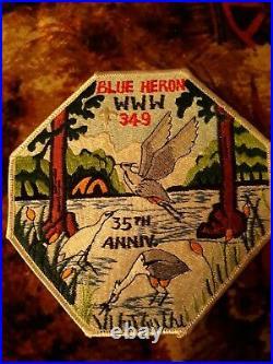 Boy Scout Order Of The Arrow Blue Heron 349 J4 Jacket Patch