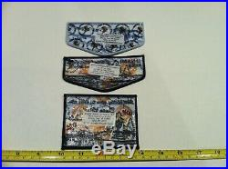 Boy Scout Order Of The Arrow Unami Lodge 1 Treasure Island Flap & Patch Set Lot