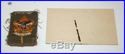 Boy Scout Patch FIRST CLASS 1913 1936 BSA + Carpentry Merit Card 1936