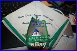 Boy Scout Pee Dee Troop 78 Neckerchief & Patch 1964 Valley Forge Jamboree