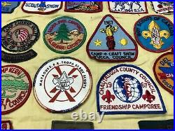 Boy Scout Troop Neckerchief Full of Patches #2 Military Bases