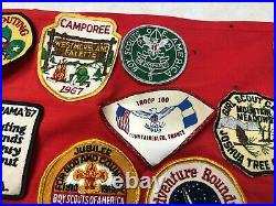 Boy Scout Troop Neckerchief Full of Patches #3 Military Bases