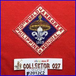 Boy Scout WSJ 1959 10th World Jamboree Mondial Philippines Participant Patch Or
