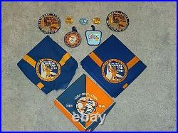 Boy Scout World's Fair Patch & Neckerchief 1939 1940 1964 Coin Slide BSA Scouts