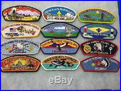 Boy Scouts- 100 -Council Shoulder Patches (CSP's) (including several obsolete)