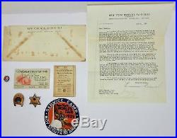Boy Scouts 1939 New York World's Fair Lot Safety Badges/pins Patch ID Letter
