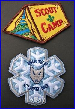 Boy Scouts Canada 2 Scout Camp & Winter Cubbing Patches Cubs Scout Beavers
