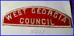 Boy Scouts Csp Red And White Shoulder West Georgia Council Very Rare Patch