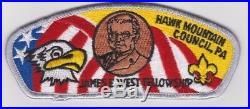 Boy Scouts Hawk Mountain Council shoulder patch James E. West Fellowship