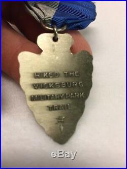 Boy Scouts Vicksburg National Military Park BSA Trek patch & scout medal