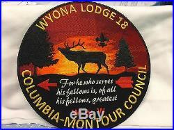 Boy Scouts- new WYONA OA Lodge 18 flap & 8 jacket patch