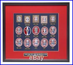 Boy Scouts of America Framed Centennial Eagle Scout Insignia Patch Collection