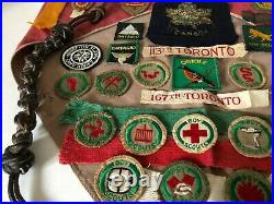 Boys Scouts Canada Scoutmaster Collection Merit Badges Patches Felt Neck Slide