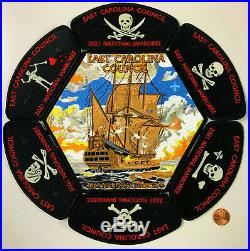 Bsa East Carolina Oa 117 Croatan 2021 Jamboree 7-patch Jsp Pirates Glow-in-dark