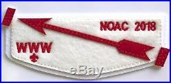Bsa Order Of The Arrow 2018 Noac Oa Endowment Felt Obv 3-patch #249 Of 250 Made