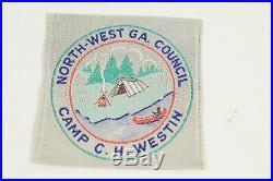 C. H. WESTIN Boy Scout CAMP PATCH Northwest Georgia Council GA. Woven Apatche