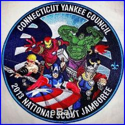 CONNECTICUT YANKEE 2013 BSA JAMBOREE OA 313 23-PATCH MARVEL with ALL DELEGATE SETS